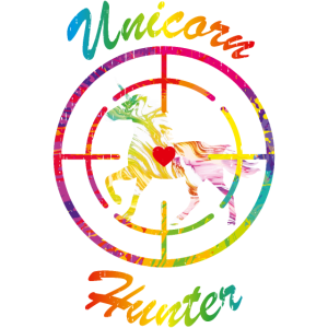 Unicorn Hunter Mens Boys Rainbow Horse Humor Hate
