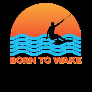 Wakeboarding Geschenk Für Wakeborder Retro Sun