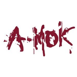 A-MOK Splash Logo Rot