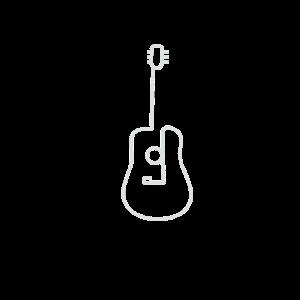 Minimalismus Line Art Gitarre Musiker