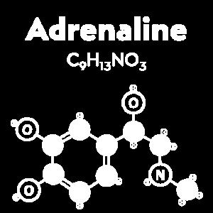 Adrenaline weißes Molekül