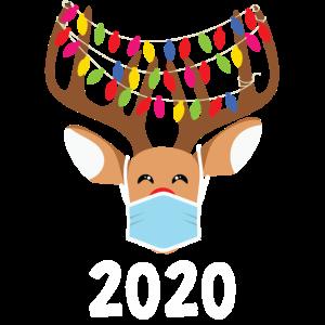 Weihnachten 2020 - Rentier mit Gesichtsmaske