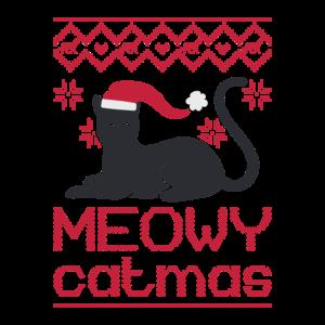 Hässliche Weihnachtskatze Design / Meowy Black Cat Funny