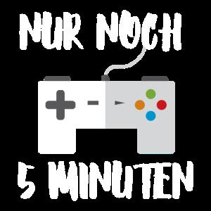 5 Minuten T-Shirt Controller Gaming Zocken Gamer