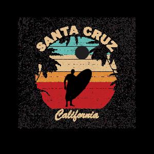 Santa Cruz California Retro Vintage T-Shirt Surf