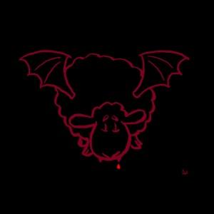 Mascarilla One Vampire Sheep (rojo sobre negro)