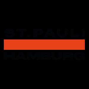 Sankt Pauli Hamburg Schrift Schwarz Rot