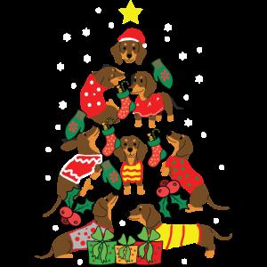 Dackel Hundebesitzer Weihnachtsbaum