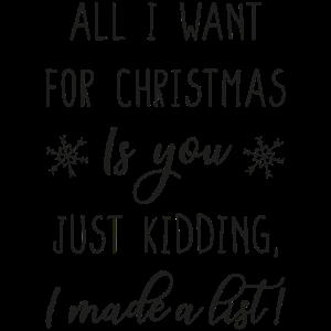 Alles was ich zu Weihnachten möchte bist du