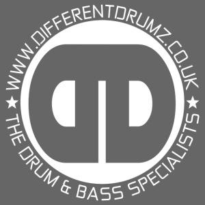 Different Drumz Logo 2020 White V2