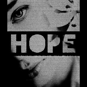 HOPE Hoffnung Frau Portrait mit Blume