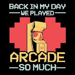 Retro Arcade Game Spruch Arcade Maschine Geschenk