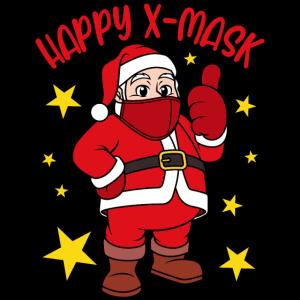 Happy X-Mask Weihnachtsmann mit Gesichtsmaske