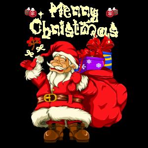 Weihnachtsmann Tannenbaum Heiligabend
