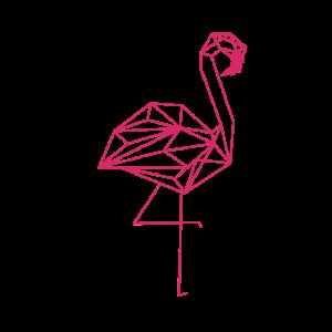 Polygon Style Flamingo pink