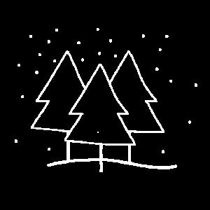drei Tannen unter dem Schnee