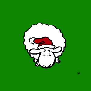 Santa Sheep (på grön)
