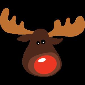 Weihnachtselch mit roter Nase