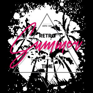 Sommerzeit Retro Vintage Stil Farbige Schrift