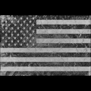 Stars and Stripes USA Flagge antik vintage grey