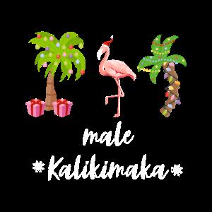 Mele Kalikimaka Hawaiian Palm Tree