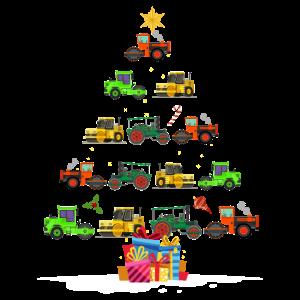 Weihnachten Kinder Bagger Maschinen Weihnachtsbaum