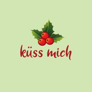 Mundschutz Mistel Weihnachten küssen lustig maske