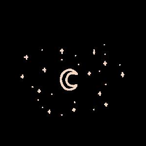 Sternenhimmel mit Mond