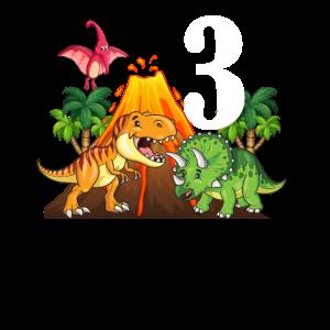 Dinosaurier 3. Geburtstag Jungen 3 Jahre Dino