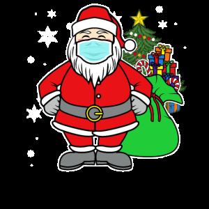 Frohe Weihnachten - Coole Weihnachtsmann-Maske
