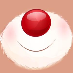 Rudolph das Reentier Weihnachts Maske