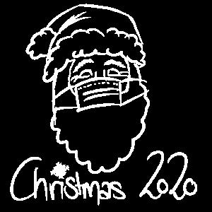Christmas 2020 Weihnachtsmann Mundschutz Maske