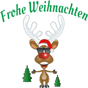 Frohe Weihnachten Rudolph das Rentier