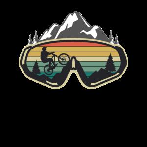 Mountainbike Berge Fahrrad Mountainbiker Geschenk