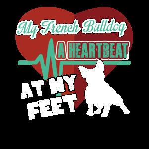 Französische Bulldogge Herzschlag Shirt