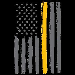 Amerikanische Flagge - dünne gelbe Linie - Dispatcher