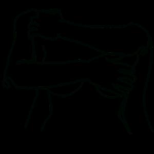 Lineart - schützende Hände black