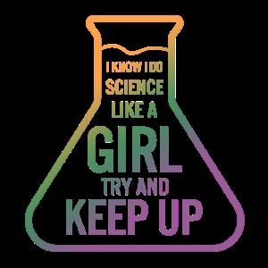 Future Science Girl Shirt Ich weiß, ich mache Wissenschaft