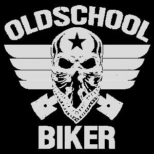 Old School Biker Bandana I Motorrad Bike Totenkopf