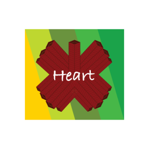 Heart cool colored design with nice geometry art