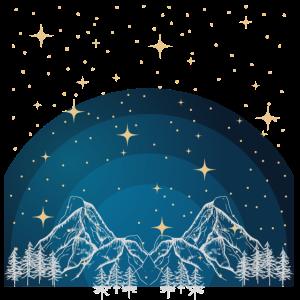 Nacht in den Bergen