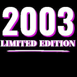 2003, 18. Geburtstag, Limited Edition Geschenkidee