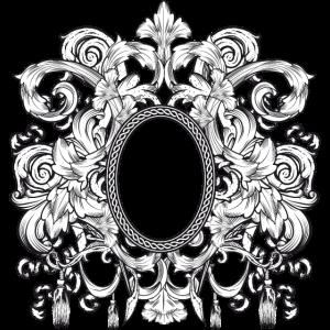 Spiegel Rahmen im Stil eines heraldischen Wappens