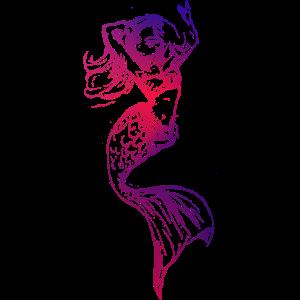Meerjungfrau Umriss rosa lila