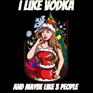 Lustiges Weihnachtsshirt Weihnachten Vodka Wodka