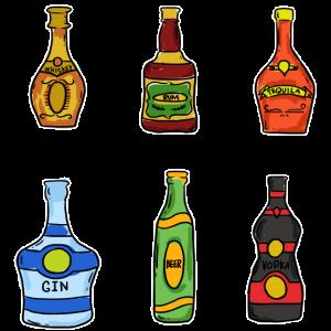 Whiskey Saufen Rum Tequila Gin Vorglühen Abfeiern