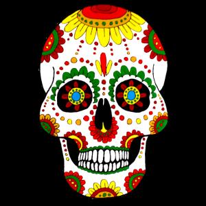 Handgemalter Schmucktotenkopf Mexiko Style