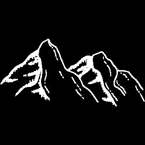 Weiße Berge zeichnen