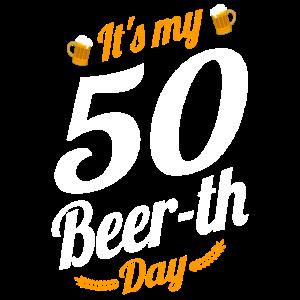 Es ist mein 50 Bier Tag Geburtstag Meilenstein lustig
