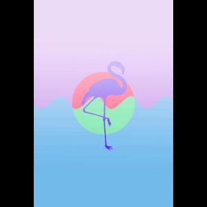Violetter Flamingo